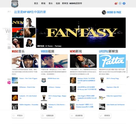 Al Rocco featured on HipHop360.cn